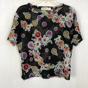 GINGER G BOHO FLORAL CROP TOP SIZE LARGE